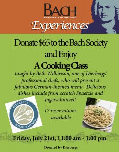 Dierbergs Cooking Experience poster